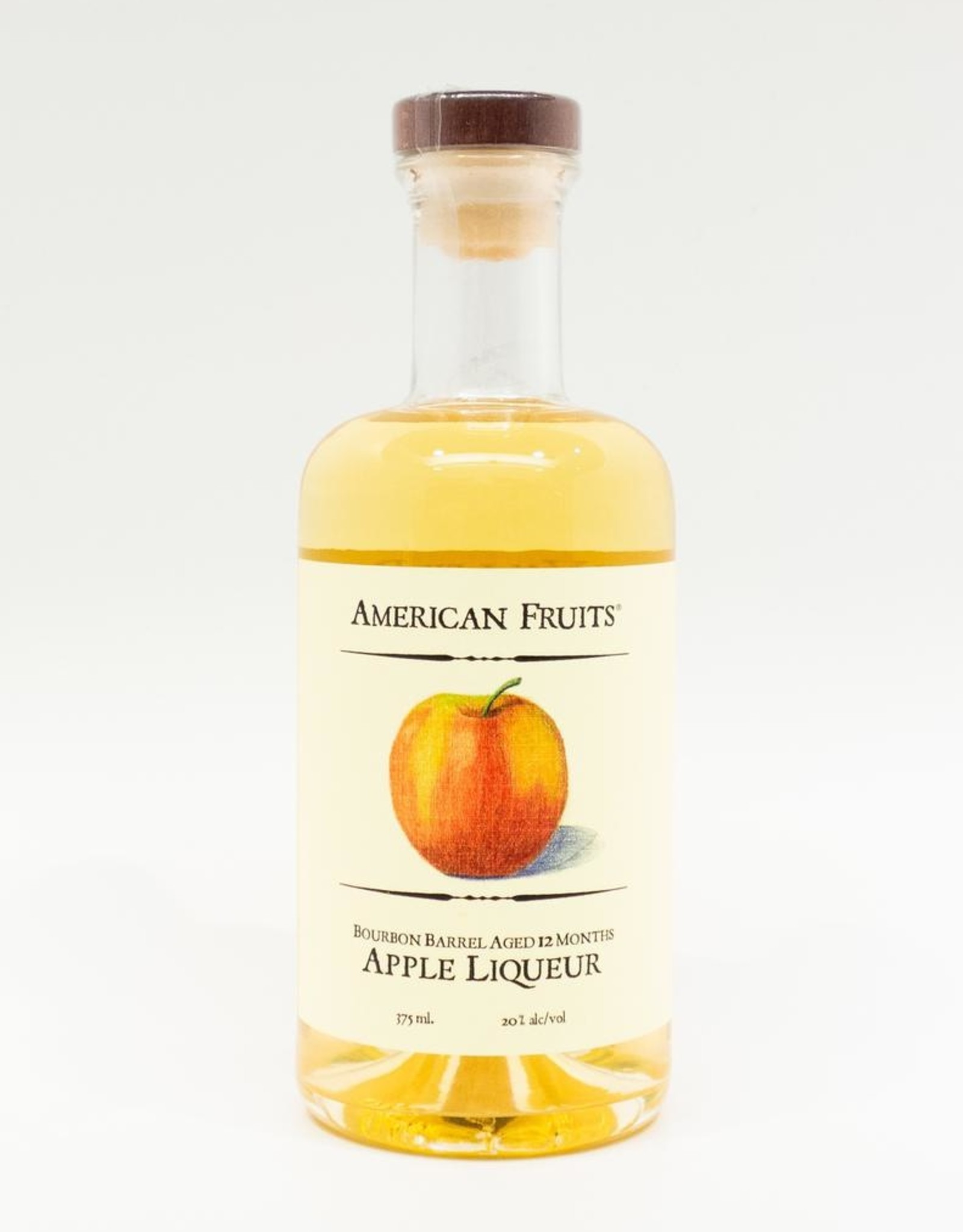 Spirits-Liqueur-Fruit American Fruits Distillery Bourbon Barrel Aged Apple Liqueur 375ml
