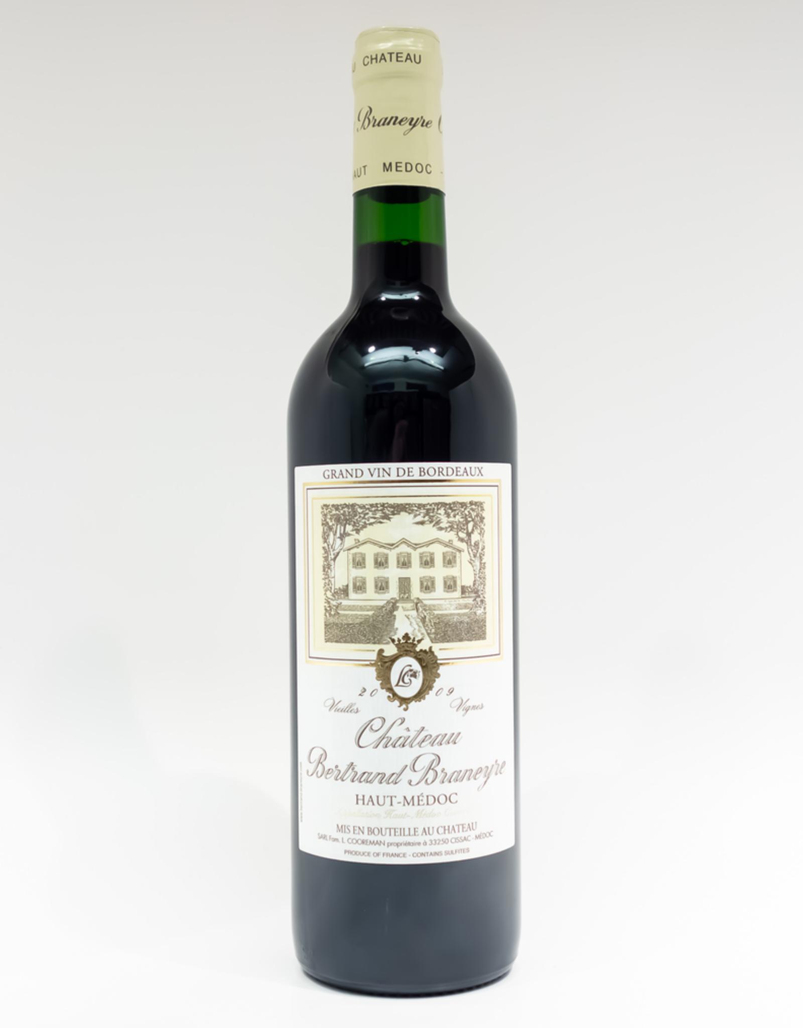 Wine-Red-Lush Chateau Bertrand-Braneyre Haut-Medoc AOC 2009