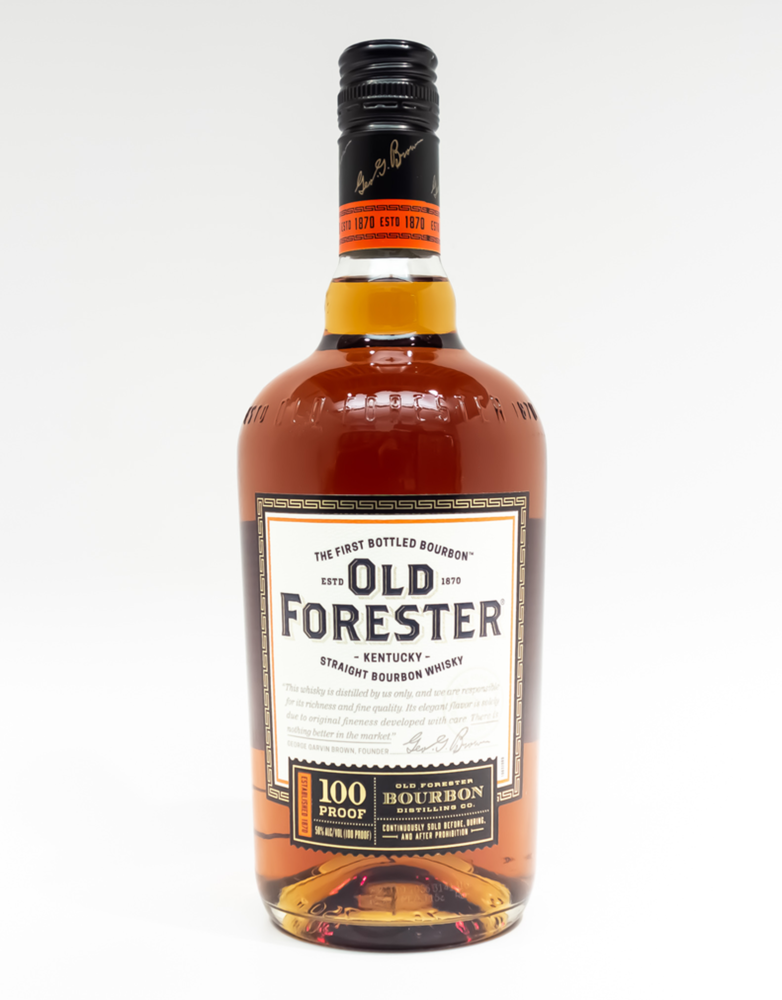 Spirits-Whiskey-Bourbon Old Forester 'Signature' 100 Proof 750ml