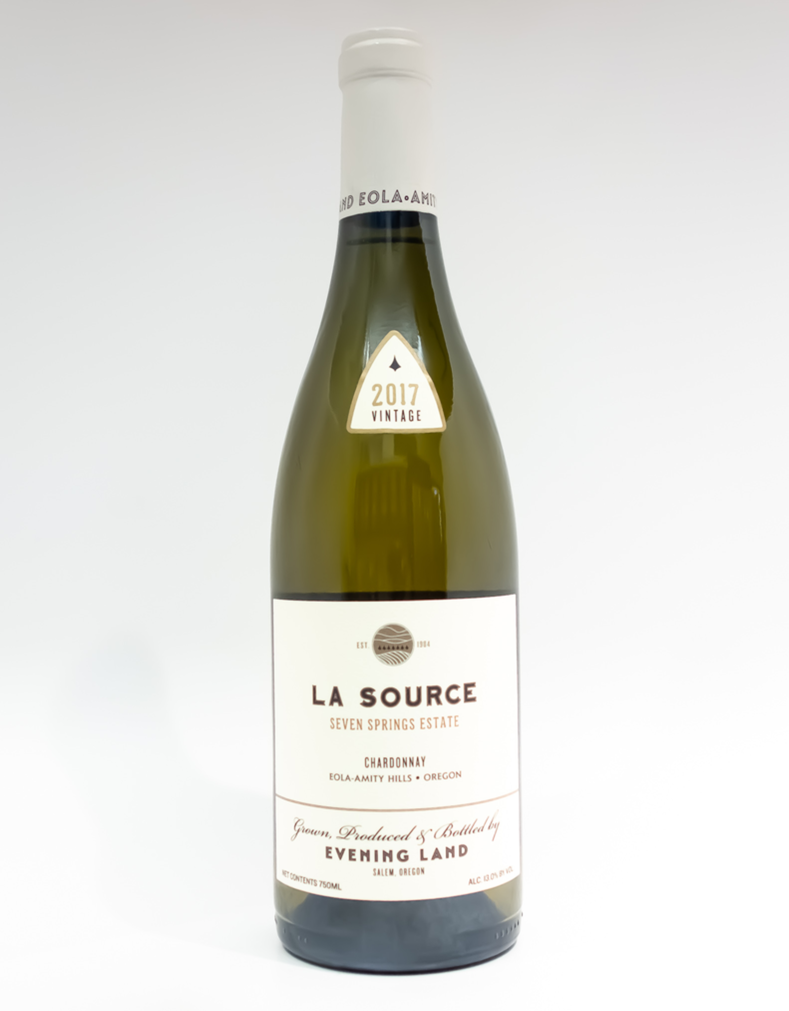 Wine-White-Round Evening Land 'La Source' Chardonnay Seven Springs Estate Eola-Amity Hills 2017