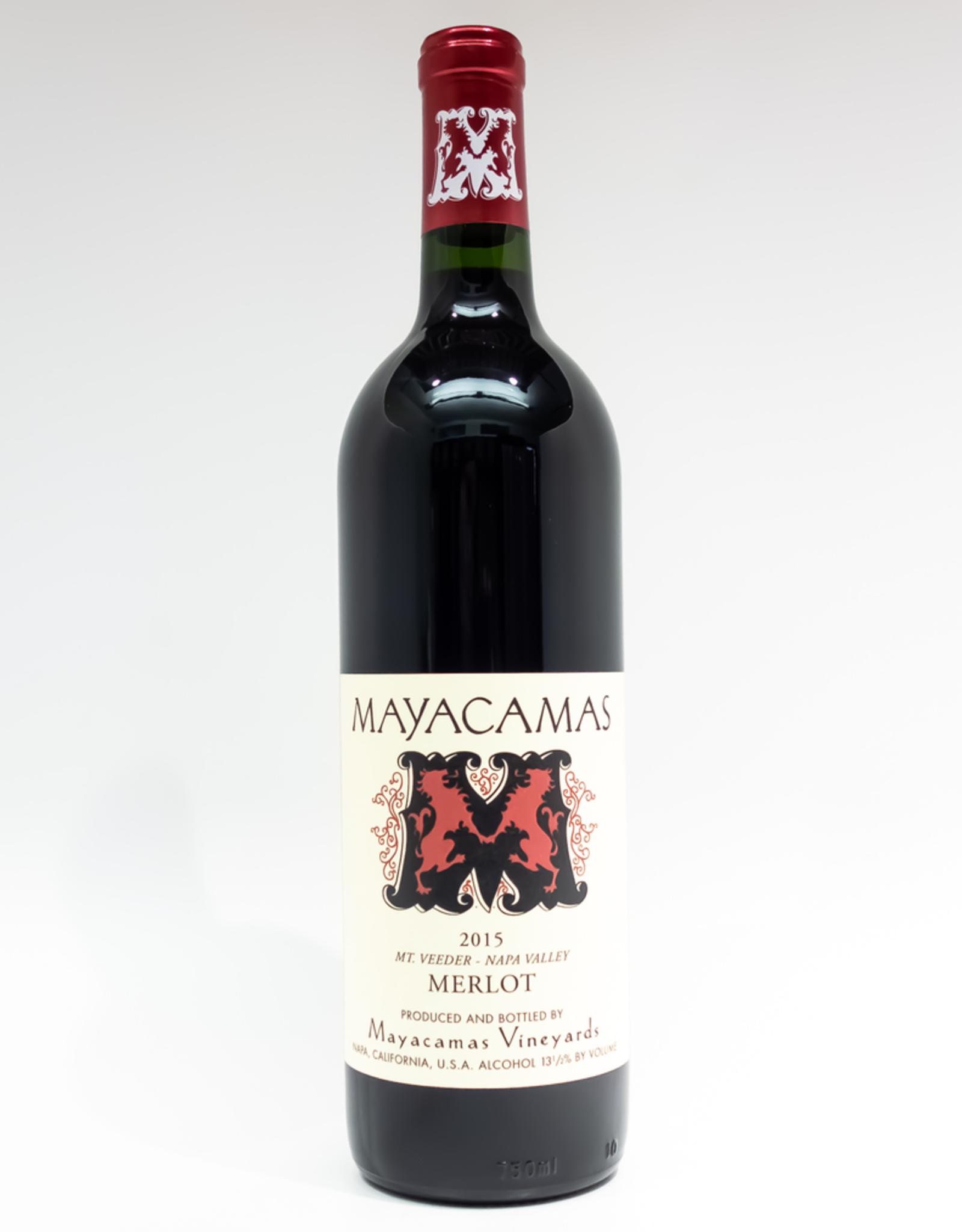 Wine-Red-Big Mayacamas Vineyards Merlot Napa Valley Mt. Veeder 2015
