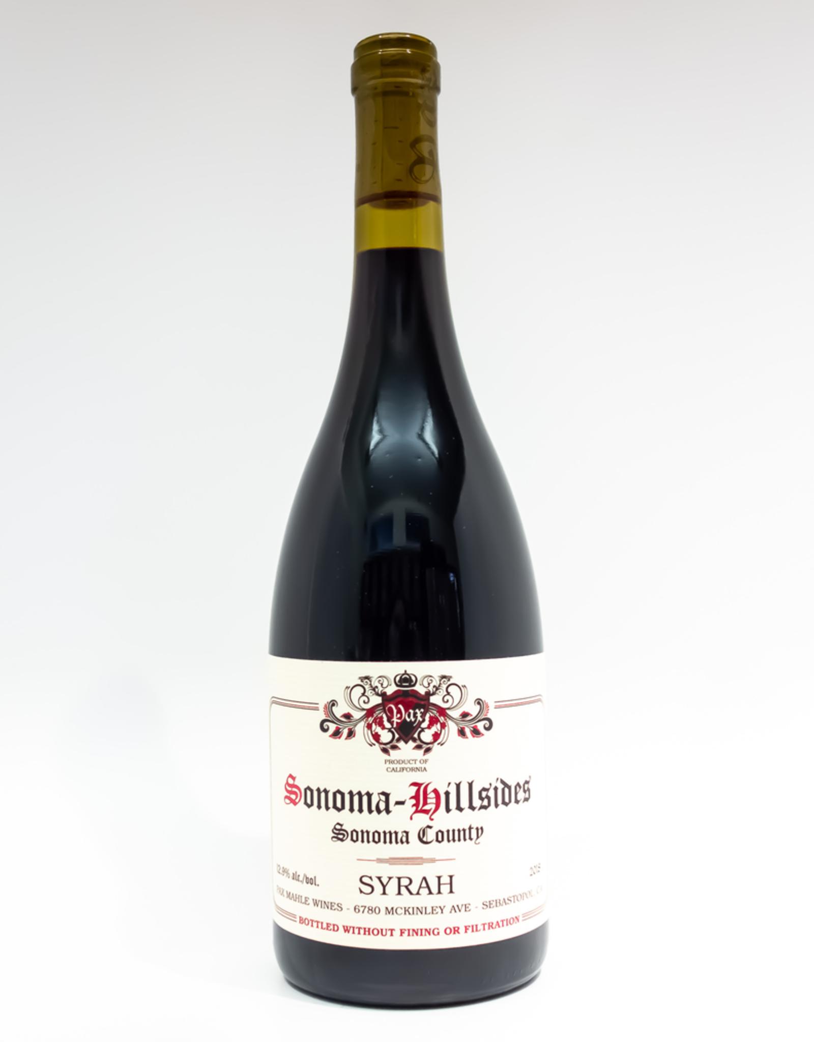 Wine-Red-Lush Pax Mahle Wines Syrah 'Sonoma Hillsides' Sonoma Valley 2018