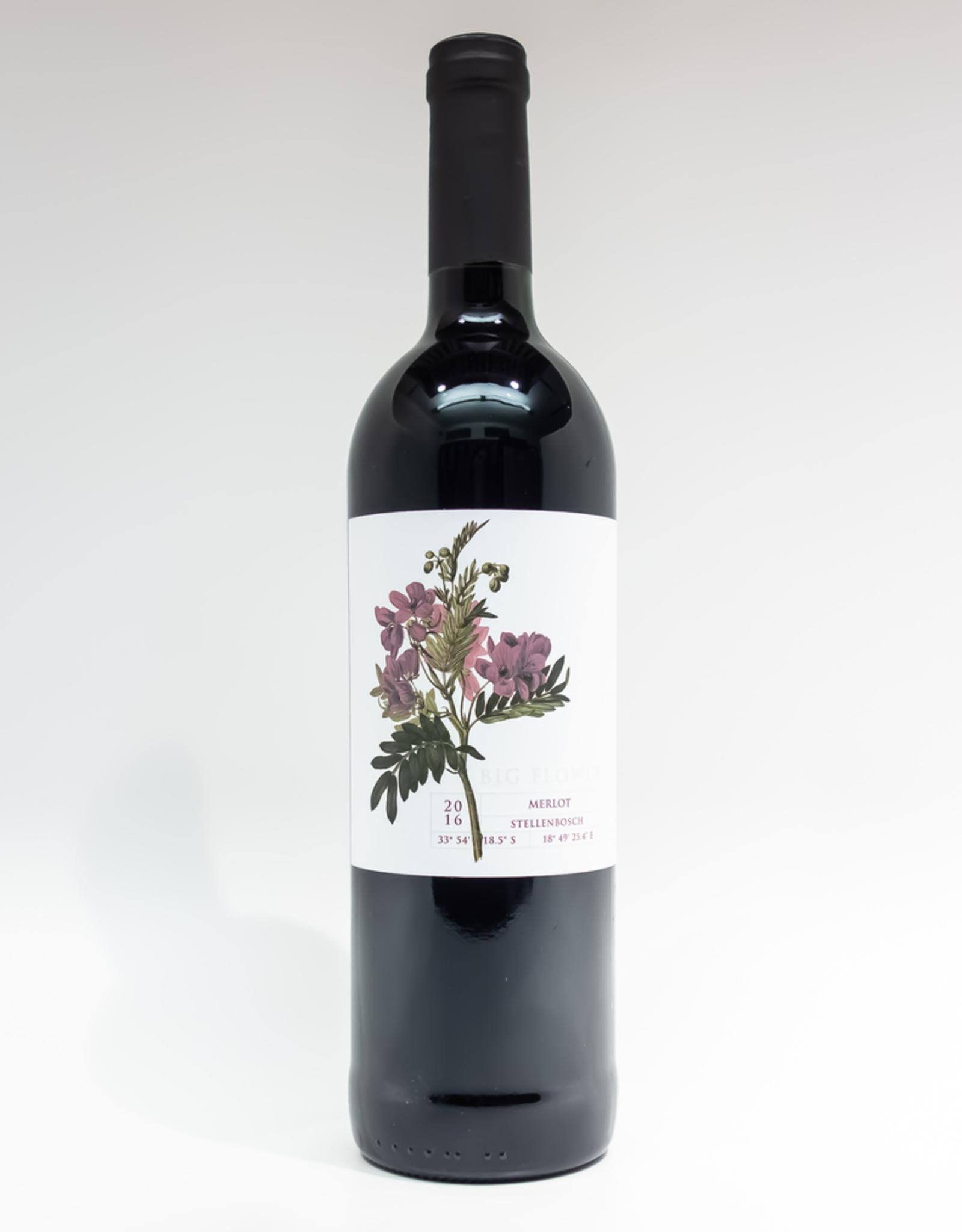 Wine-Red-Big Big Flower Merlot Stellenbosch WO 2016