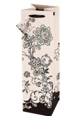 Accessories-Bag 'Black Floral Design' Gift Bag