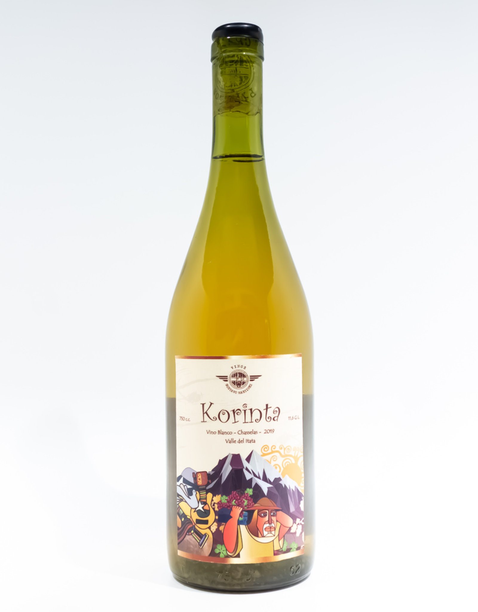 Wine-Orange/Skin-fermented Gustavo Martinez 'Korinta' Valle del Itata 2019