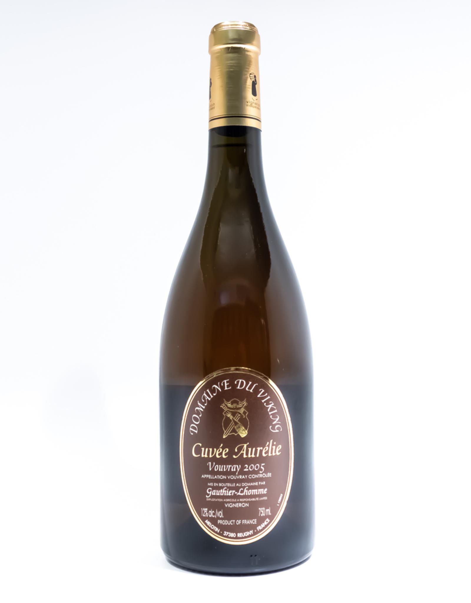 Wine-Dessert-White Domaine du Viking 'Cuvee Aurelie' Vouvray AOC 2005
