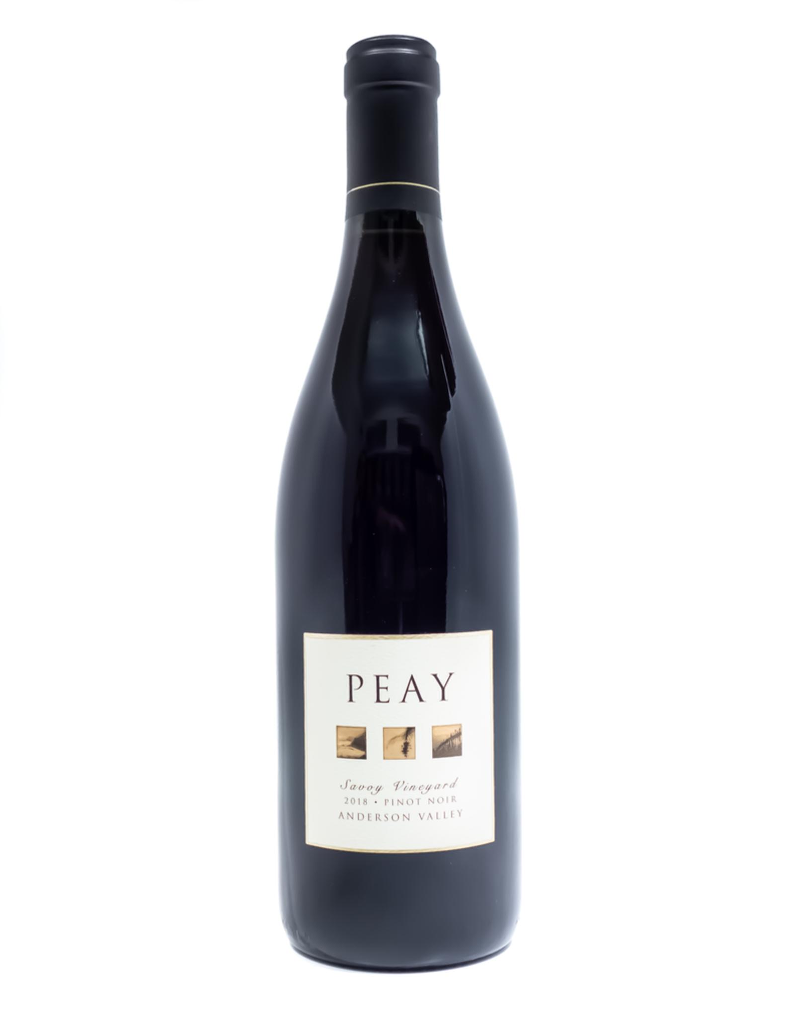 Wine-Red-Lush Peay Vineyards Pinot Noir Savoy Vineyard Anderson Valley 2018