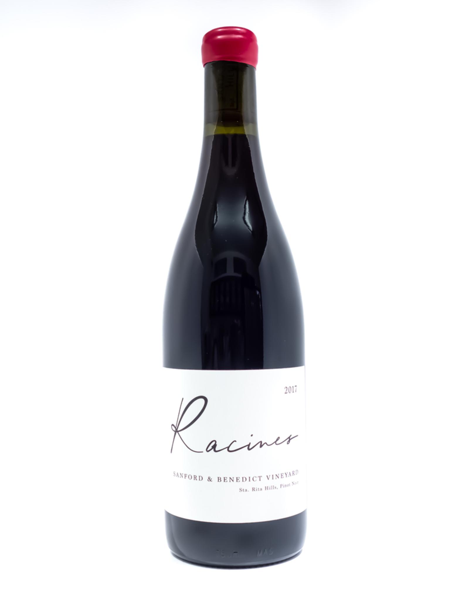 Wine-Red-Lush Racines Wine Pinot Noir Sanford & Benedict Vineyard Sta. Rita Hills 2017