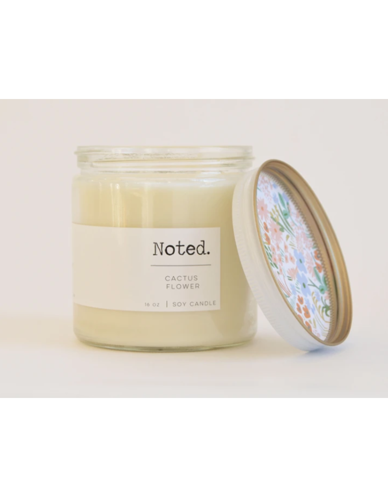 Noted Cactus Flower Candle