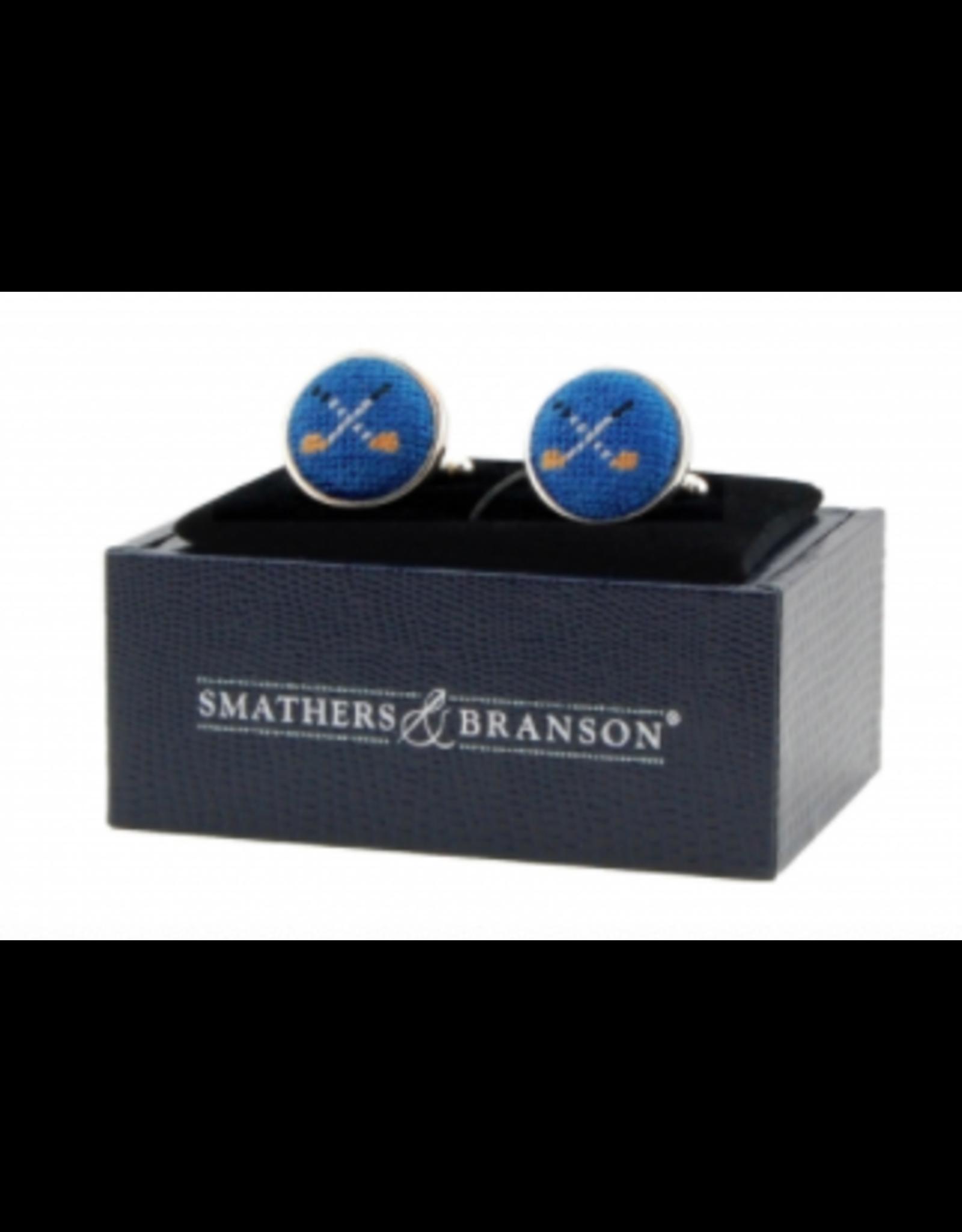 Smathers & Branson Crossed Club Cuff Links