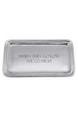 Mariposa When They Go Low Beaded Tray