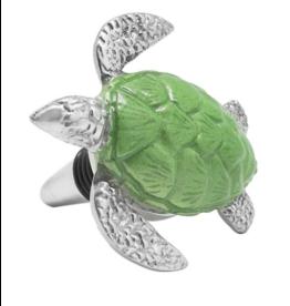 Mariposa Green Turtle Bottle Stopper