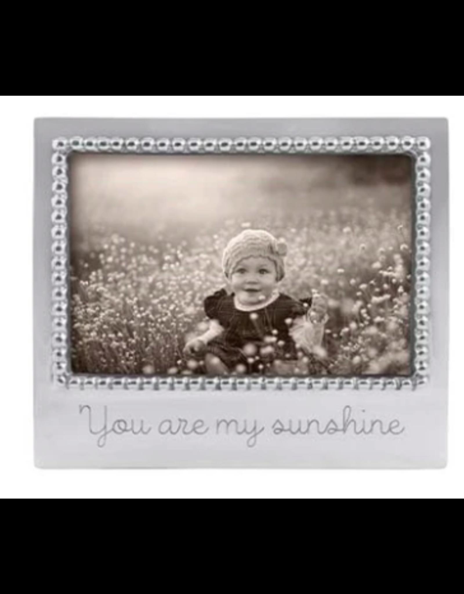 Mariposa You Are My Sunshine Beaded 4x6 Frame