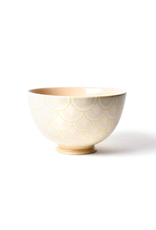"Coton Colors Layered Arabesque 9"" Footed Bowl Blush"