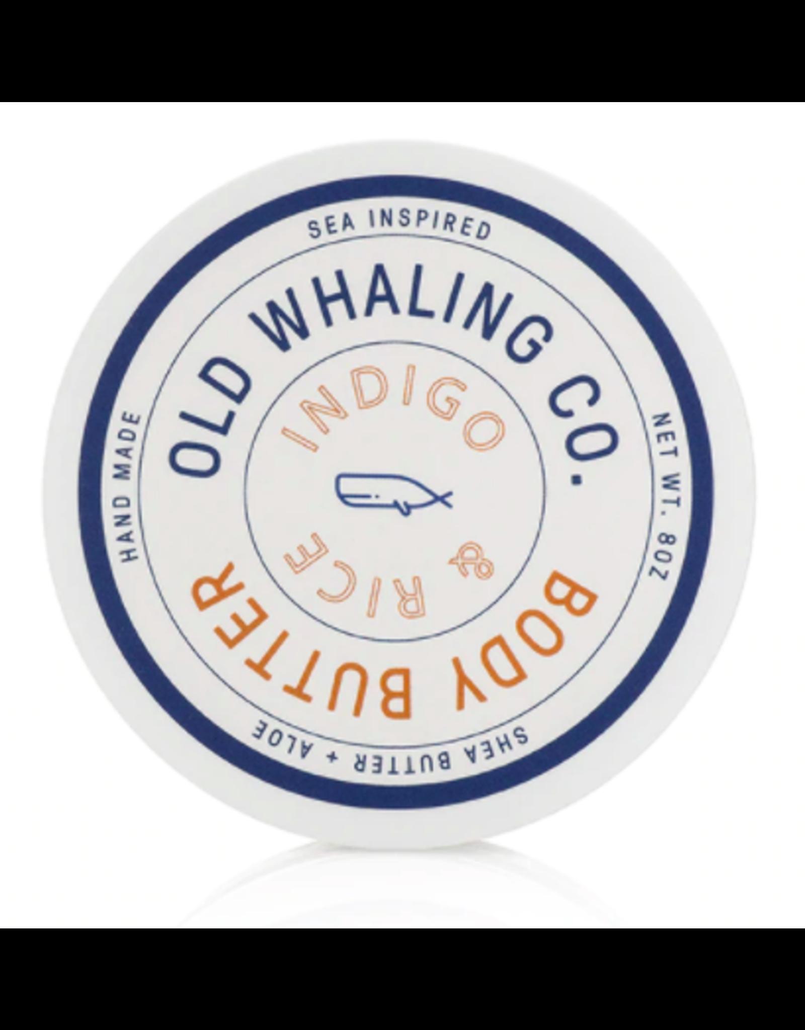Old Whaling Co. Indigo & Rice 8oz Body Butter