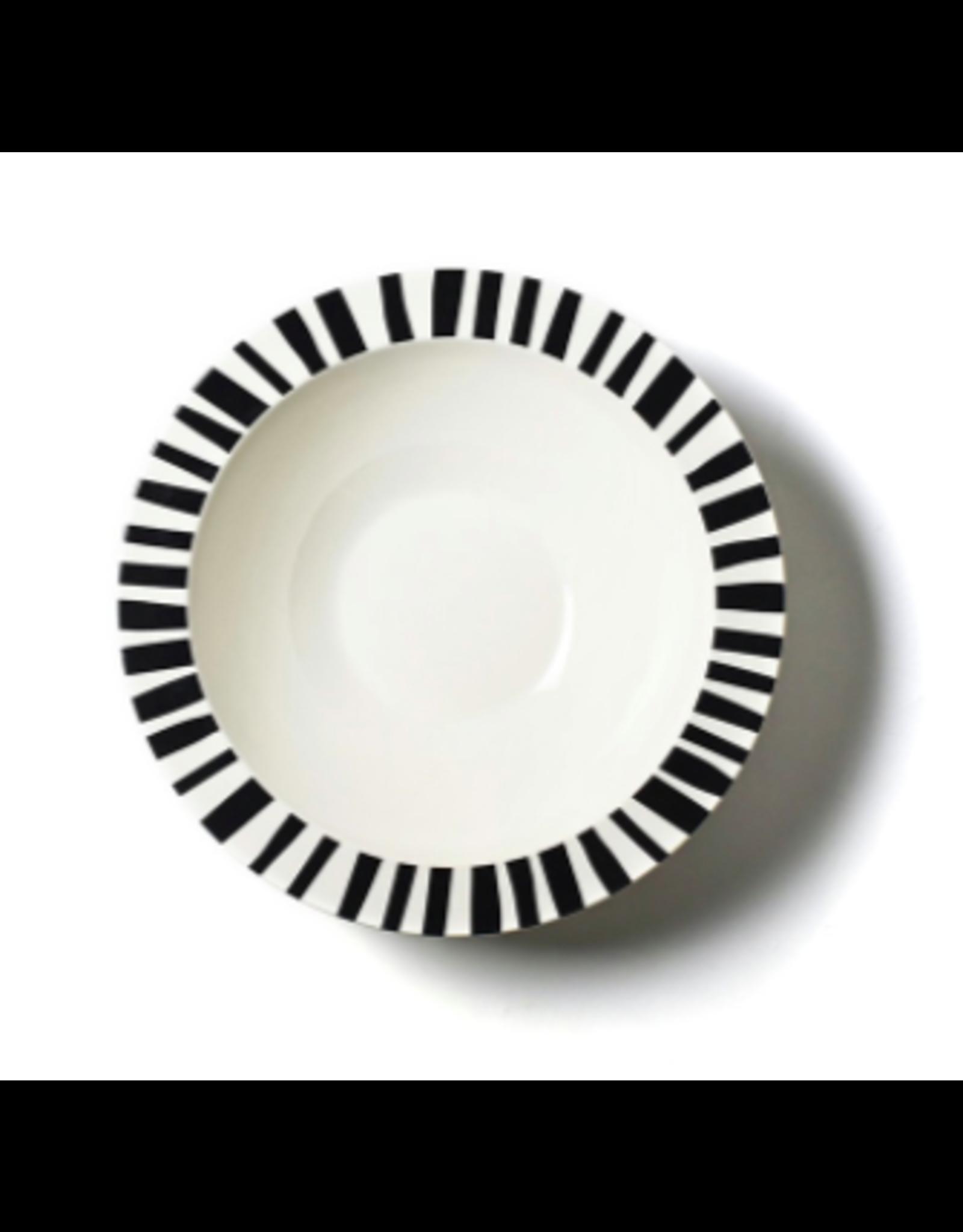 Coton Colors Deco Rimmed Bowl Brushed Dot