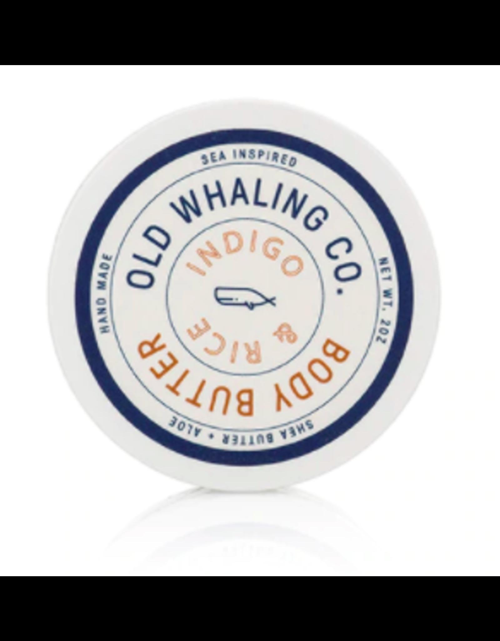 Old Whaling Co. Indigo & Rice 2oz Body Butter