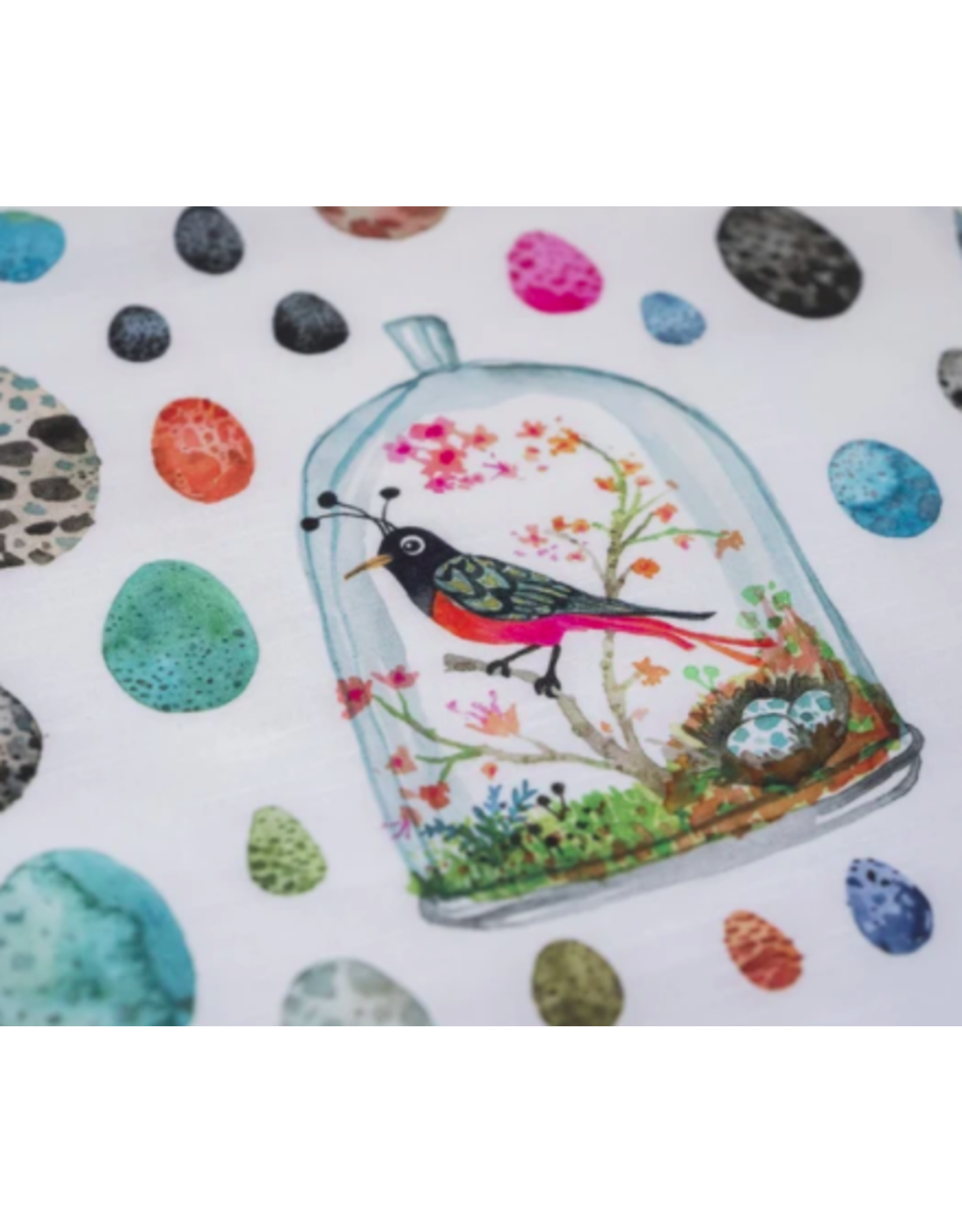Betsy Olmstead Bird Terrarium Tea Towel
