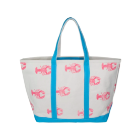 Crab & Cleek Pink Lobster Tote Bag