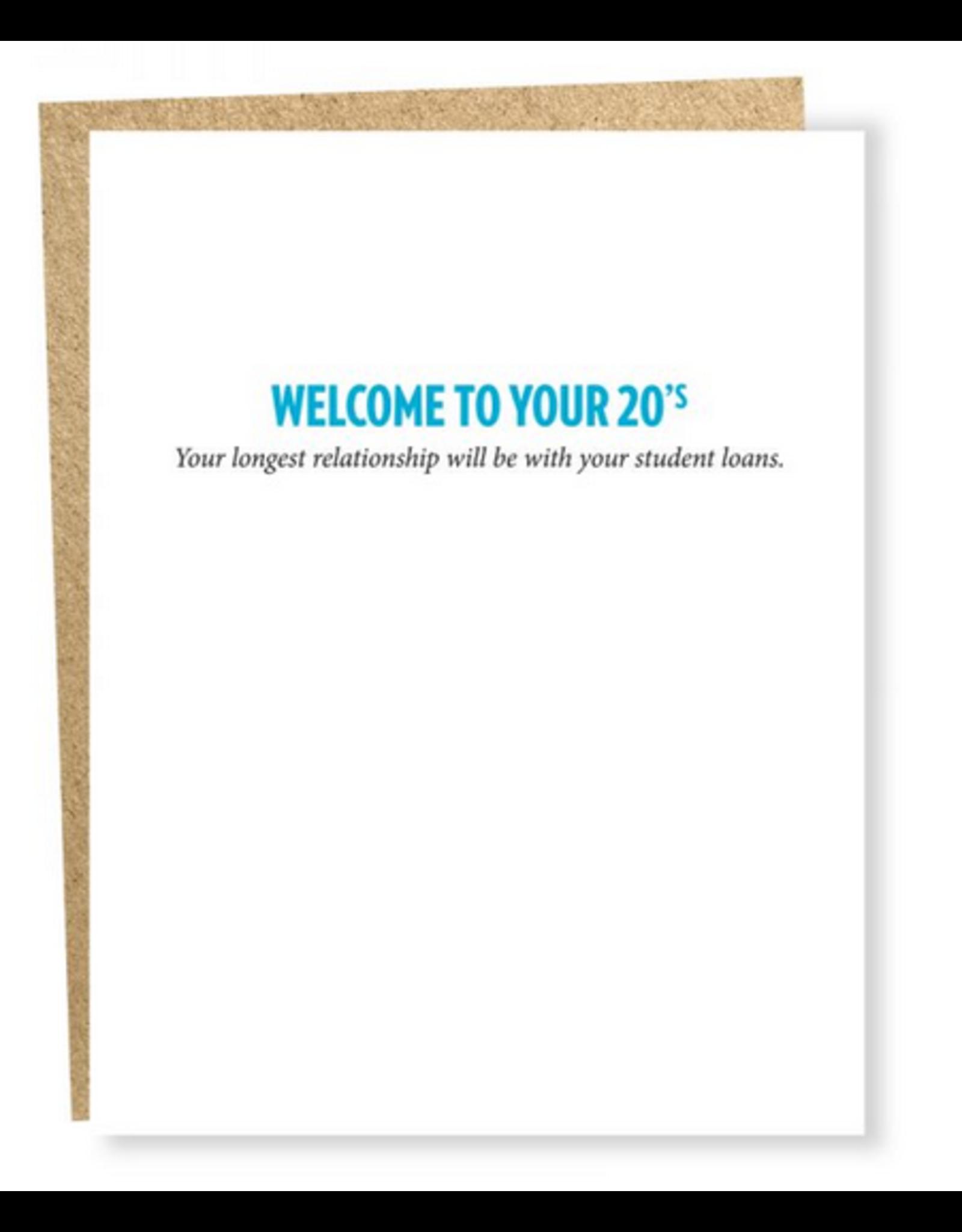 Sapling Press Student Loans 20s Card