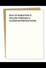 Sapling Press Bathroom Door Card