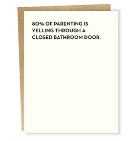 Sapling Press Bathroom Door Card
