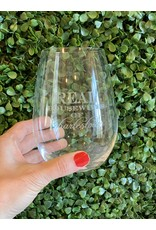 Maple Leaf at Home Real Housewives of Charlestown Wine Glass