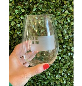 Maple Leaf at Home Bunker Hill Flag Stemless Wine Glass