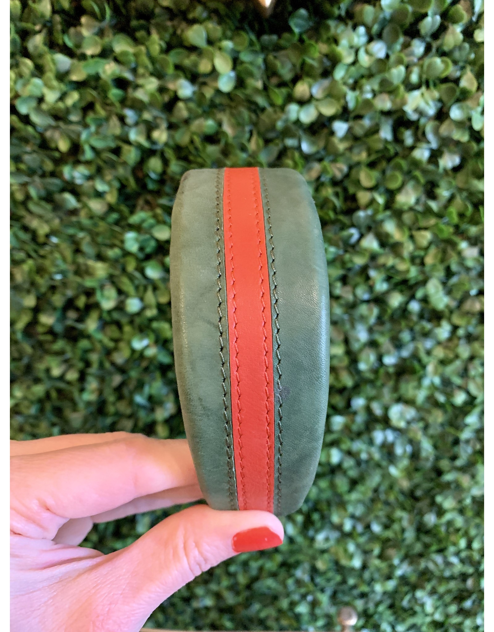 Parker & Hyde Green and Red Stripe Headband by Parker & Hyde