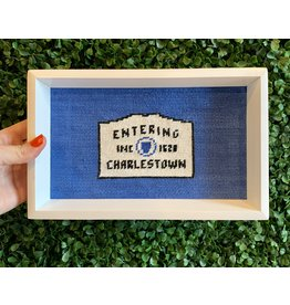 Smathers & Branson Needlepoint Entering Charlestown Valet Tray
