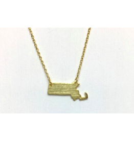 Massachusetts Necklace in Gold