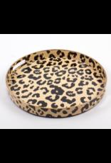 Round Leopard Tray