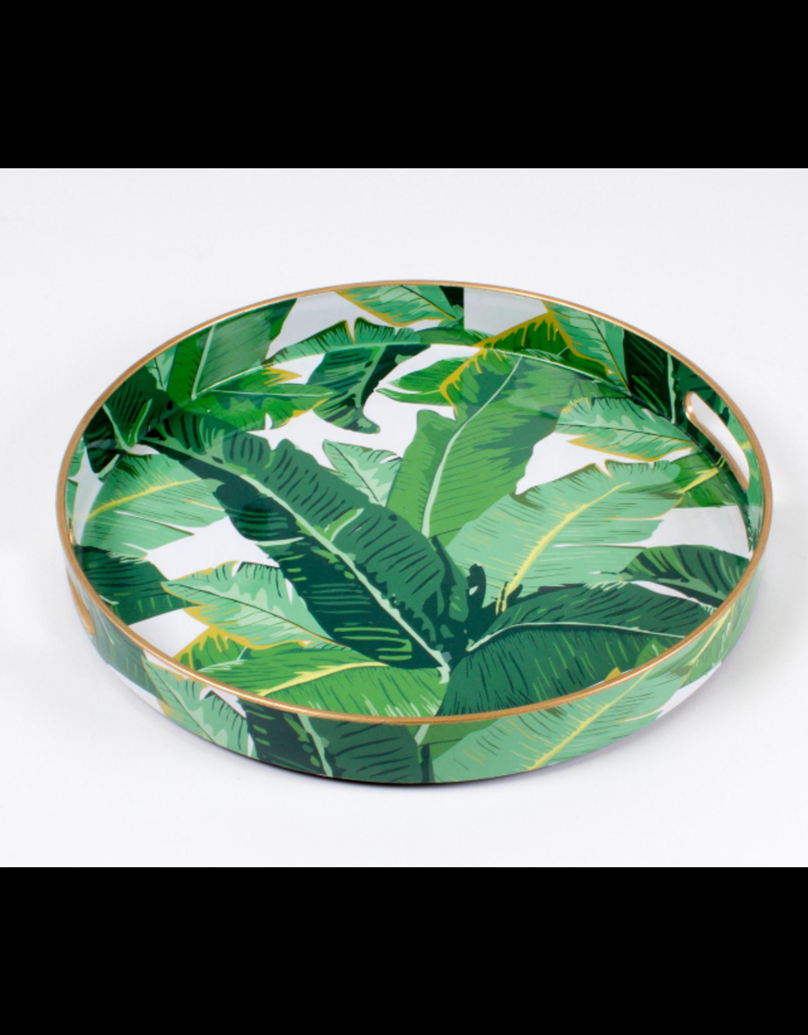 Round Botanical Leaf Tray