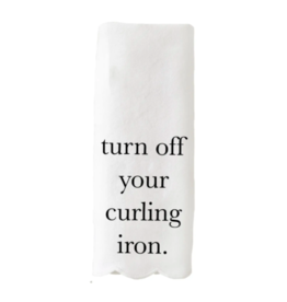 Curling Iron Hand Towel