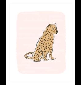 Clairebella Leopard at Rest Blush Art Print 8x10