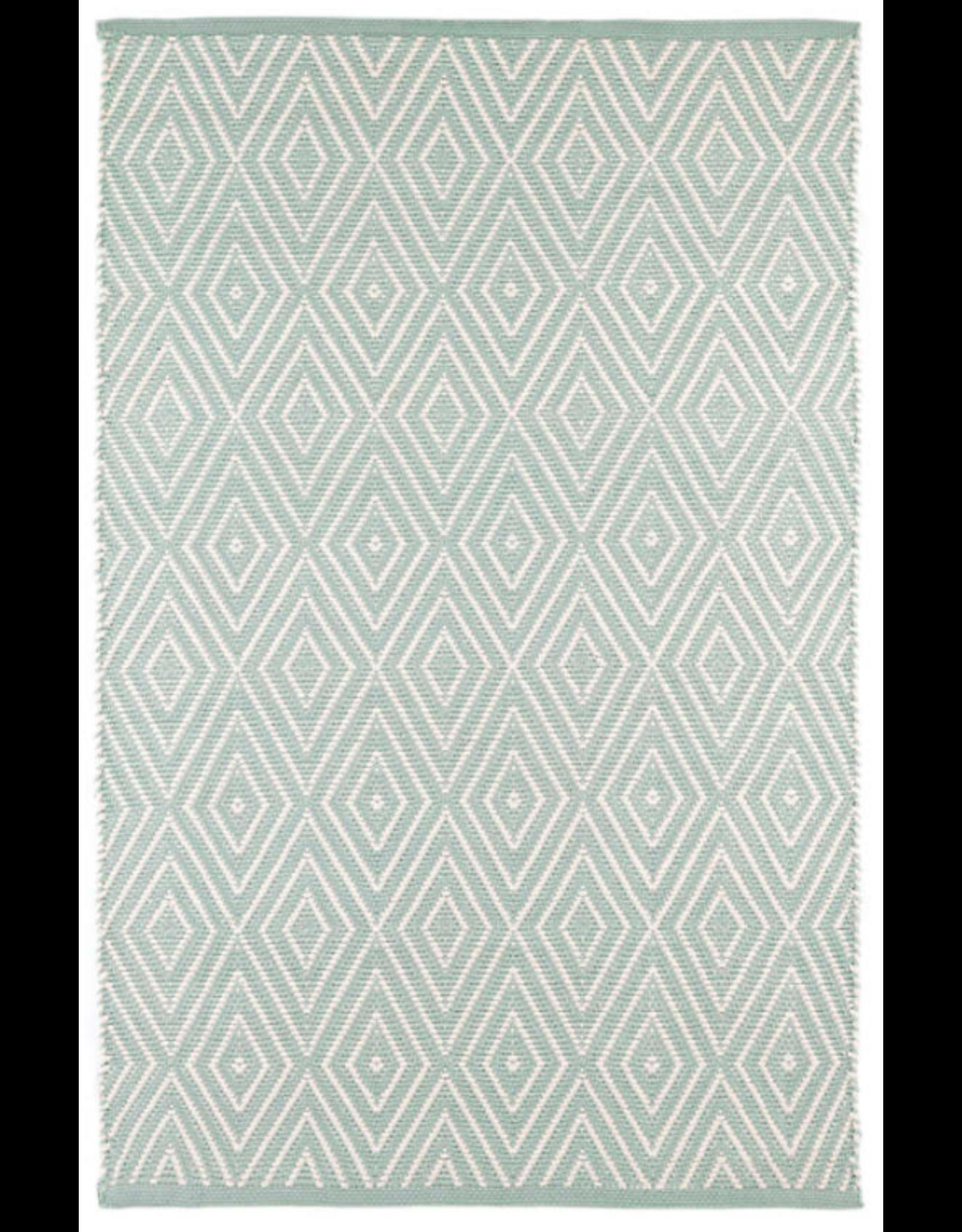 Dash & Albert Diamond Light Blue & Ivory Indoor/Outdoor 2x3