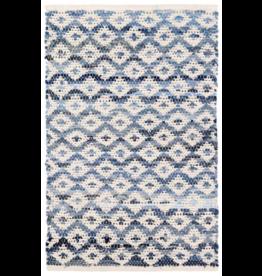 Dash & Albert Denim Rag Diamond & Ivory Cotton 2x3