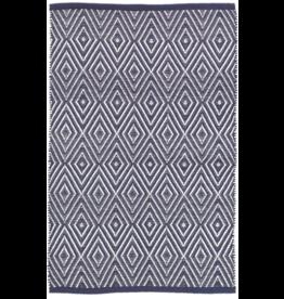Dash & Albert Diamond Navy & White Indoor/Outdoor 4x6