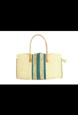 Habiba Straw Handbag Turquoise