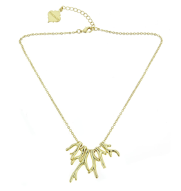 Fornash Coral Necklace in Gold
