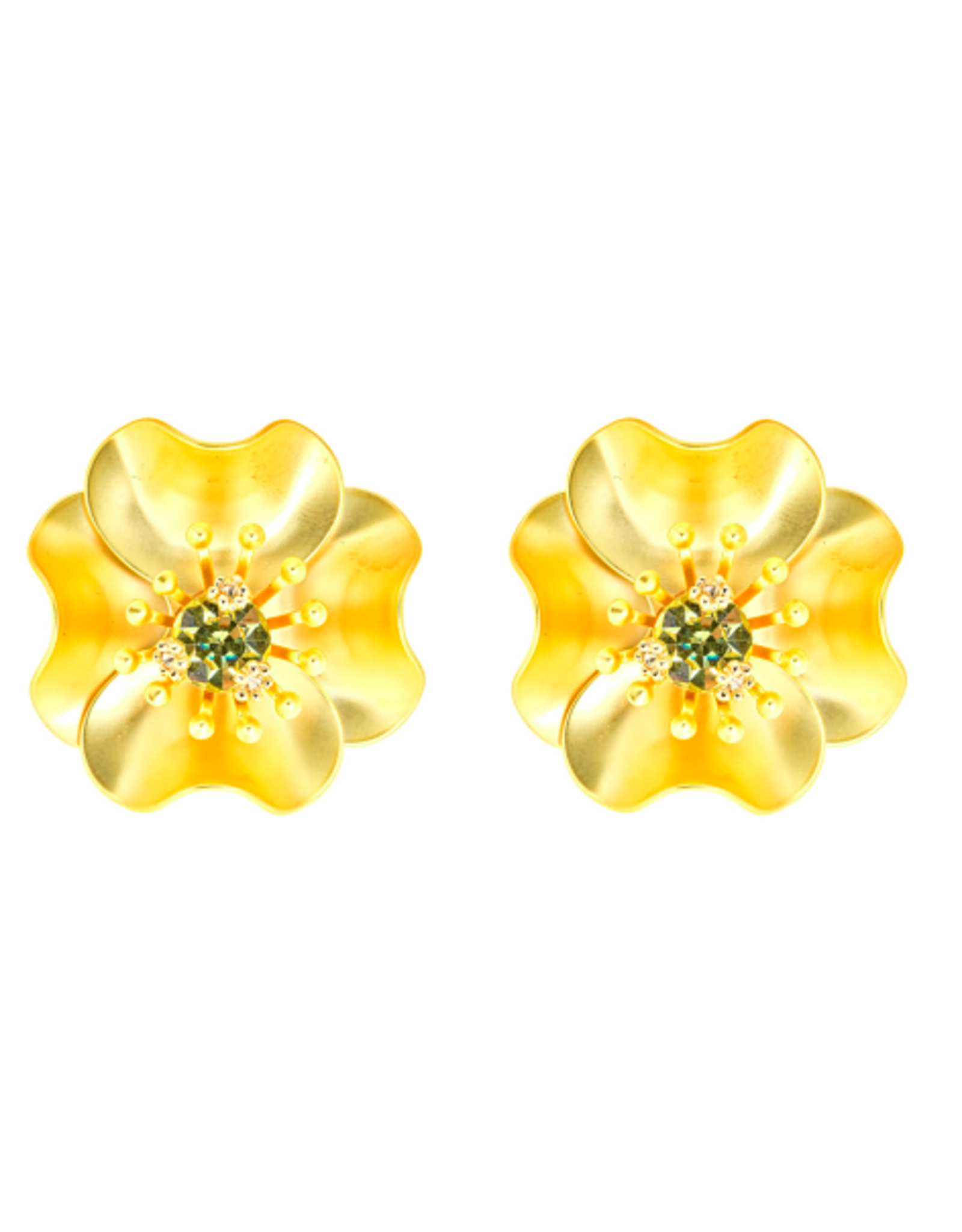 Fornash Begonia Earring Gold