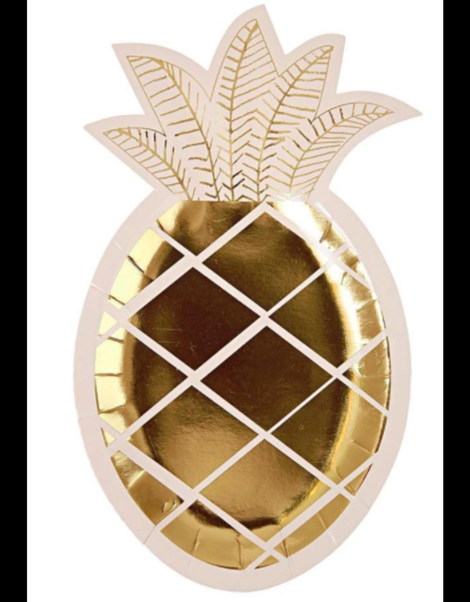 Meri Meri Pineapple Plates Set of 8