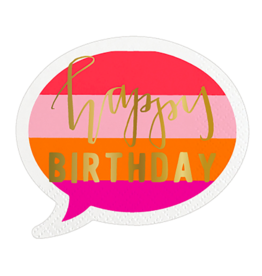 Slant Collections Happy Birthday Bubble Napkin
