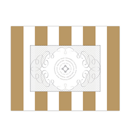 Gold Cabana Stripe 4x6 Frame
