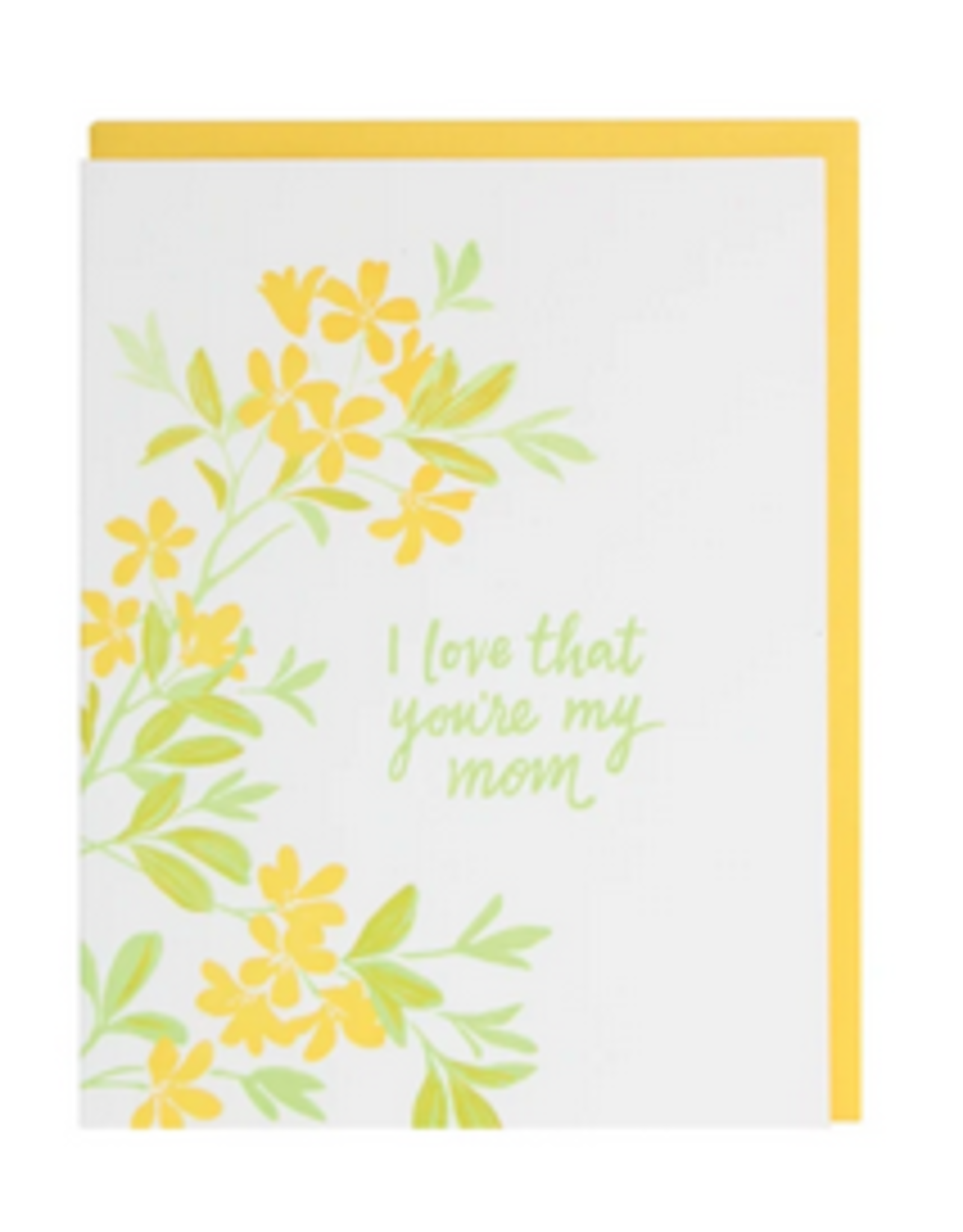 Smudge Ink Yellow Blossoms Mother's Day Card