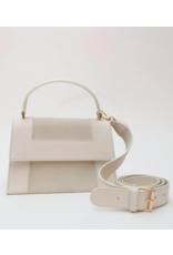 Neely & Chloe Graphic Frame Bag in Natural by Neely & Chloe
