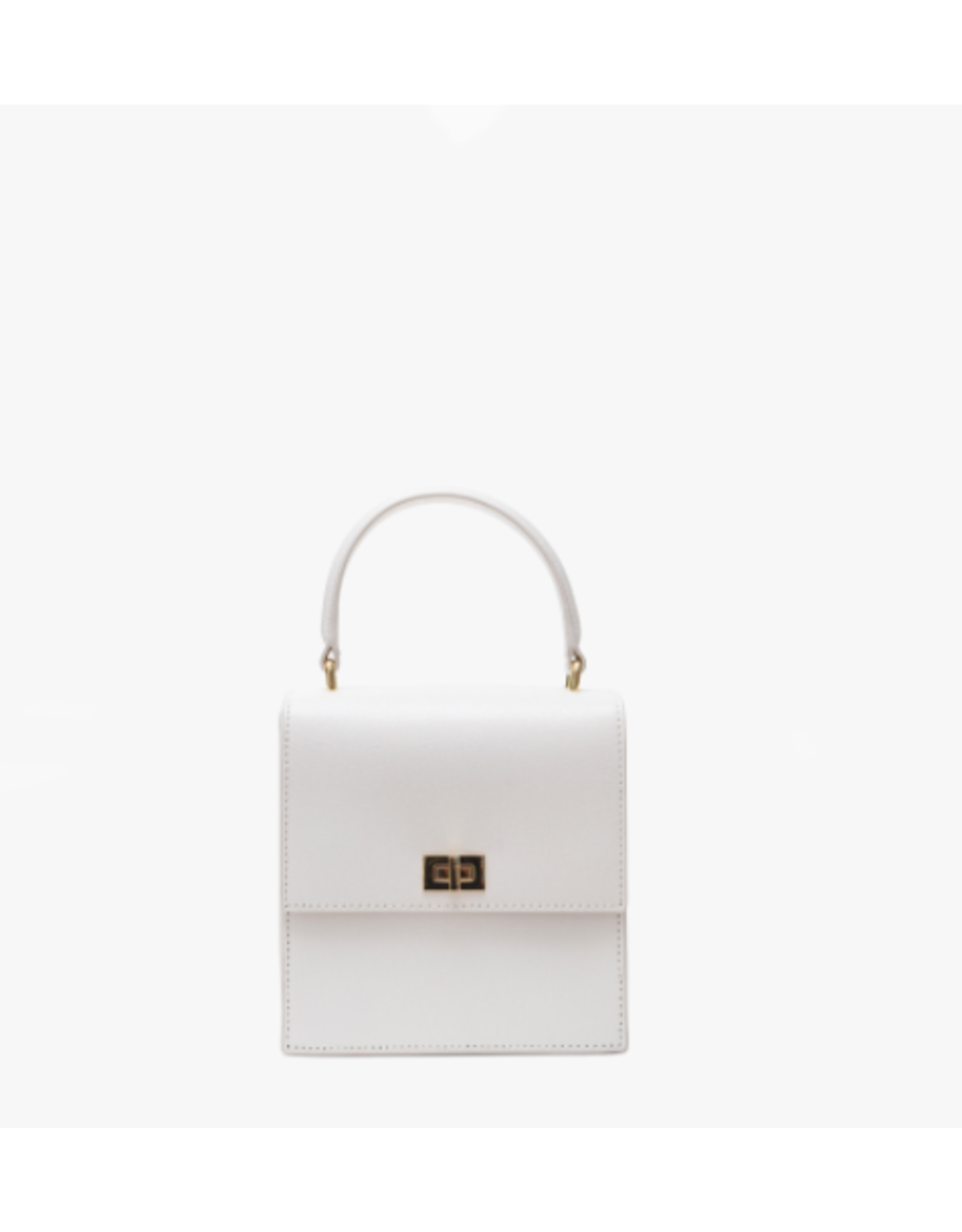 Neely & Chloe The Mini Lady Bag in White Saffiano by Neely & Chloe