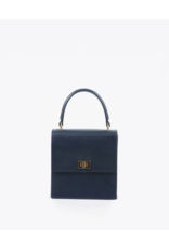 Neely & Chloe The Mini Lady Bag in Navy Saffiano by Neely & Chloe