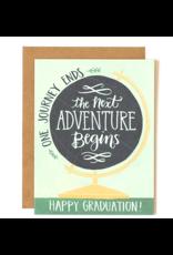 1Canoe2 Globe Graduation Card