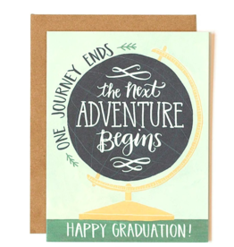 1Canoe2 Globe Graduation Card